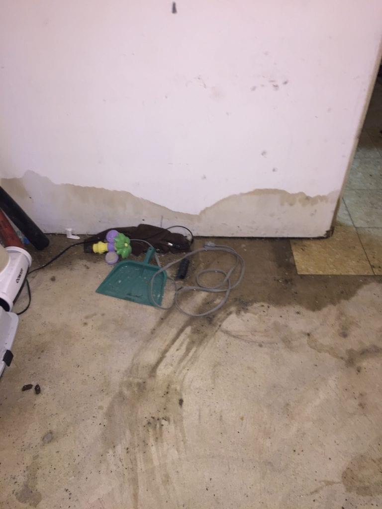 Our basement remodel flood