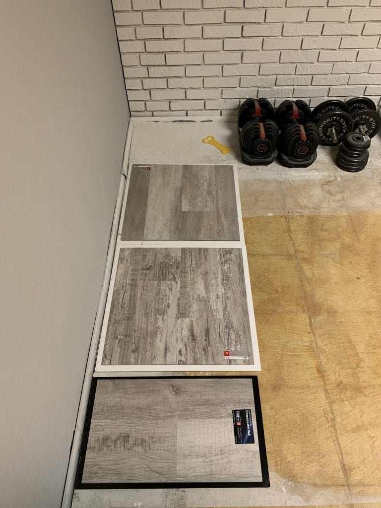 Our flooring options for our basement remodel