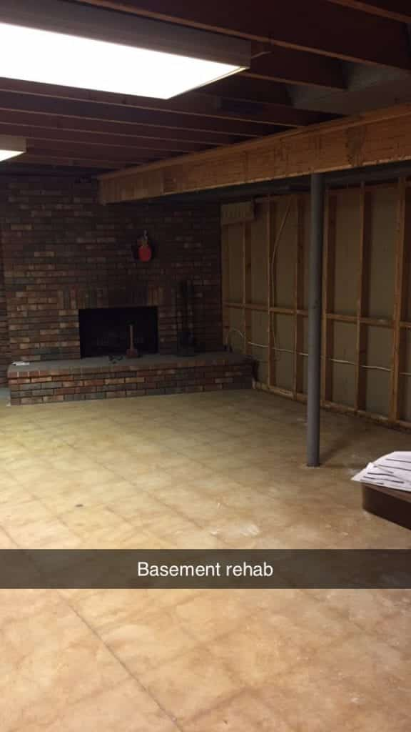 Clean basement before the remodel