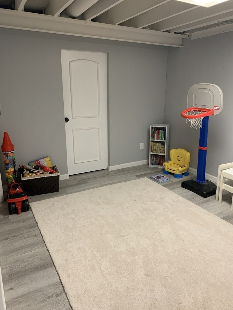 Photo of kids playroom after the basement remodel