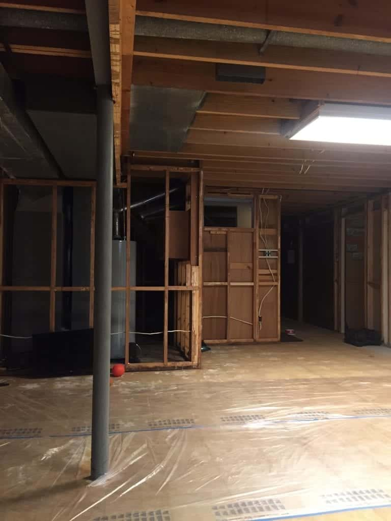 Before photo of main room in our basement