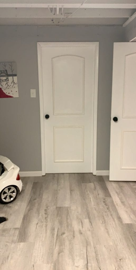 How we made old ugly doors look new in our basement remodel