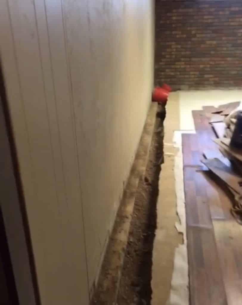 Waterproofing before our basement remodel